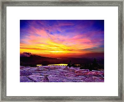 Acadia National Park Cadillac Mountain Sunrise Forsale Framed Print