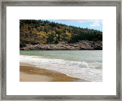 Framed Print featuring the photograph Acadia National Park by Gene Cyr