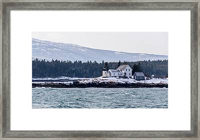 Acadia National Park Schoodic Lighthouse Framed Print