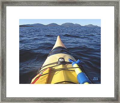 Acadia Sea Kayaking Framed Print by Richard Stevens