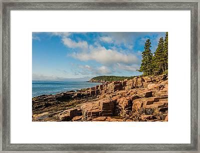 Acadia Shoreline Framed Print