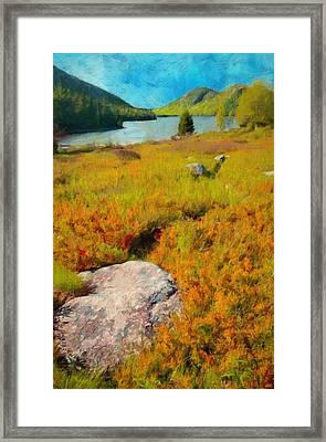 Framed Print featuring the painting Acadia Spring by Jeff Kolker