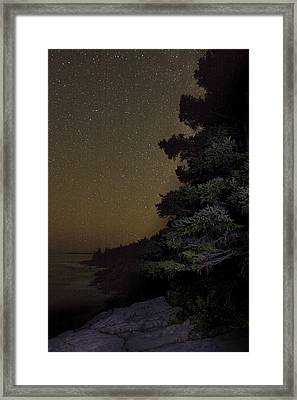 Acadia Stars 01 Framed Print by Brent L Ander
