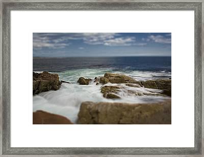 Acadia Surf II Framed Print by Bob Retnauer