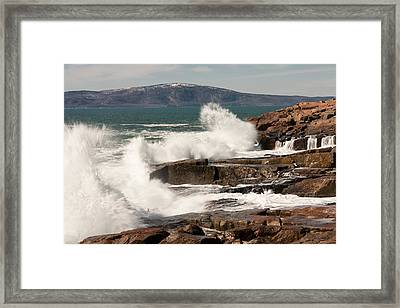 Acadia Waves 4198 Framed Print by Brent L Ander