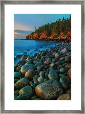Acadian Dawn - Otter Cliffs Framed Print by Thomas Schoeller