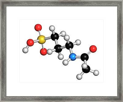 Acamprosate Alcoholism Treatment Drug Framed Print by Molekuul