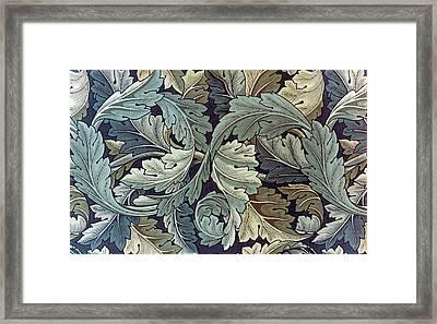 Acanthus Leaf Design Framed Print by William Morris