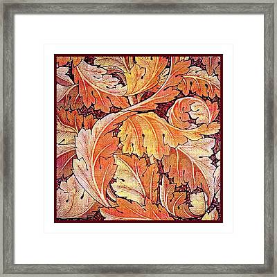Acanthus Vine Design Framed Print by William Morris