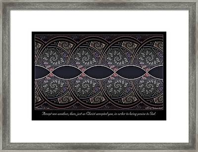 Accept One Another Framed Print