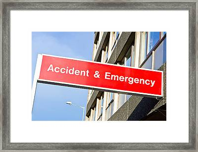 Accident And Emergency Framed Print by Tom Gowanlock