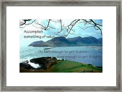 Accomplish Value 21168 Framed Print