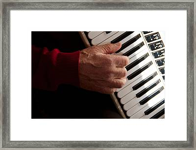 Accordion Man Framed Print by Odd Jeppesen