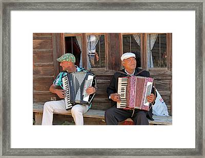 Accordionists In Jervana Framed Print by Tony Murtagh
