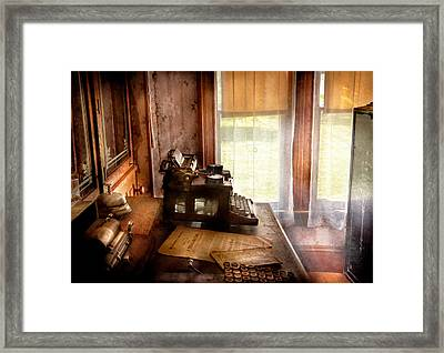 Accountant - My Little Office  Framed Print