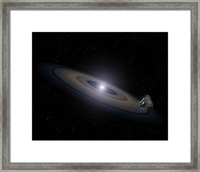 Accretion Disk Around A White Dwarf Framed Print by Nasa, Esa, And G. Bacon (stsci)