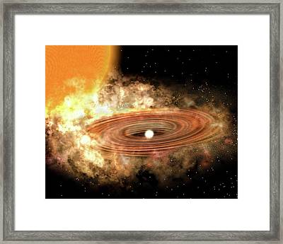 Accretion Disk Around Binary Star System Framed Print by P. Marenfeld And Noao/aura/nsf