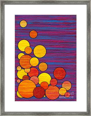 Accumulation Framed Print by David K Small