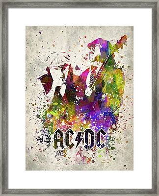 Acdc In Color Framed Print by Aged Pixel