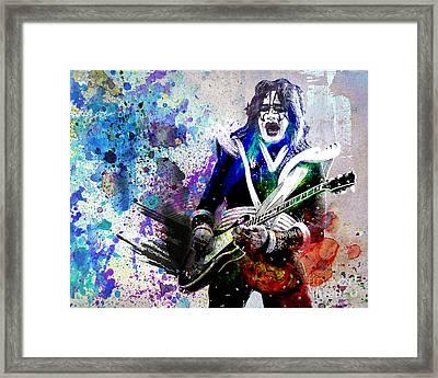 Ace Frehley - Kiss Original Painting Print Framed Print