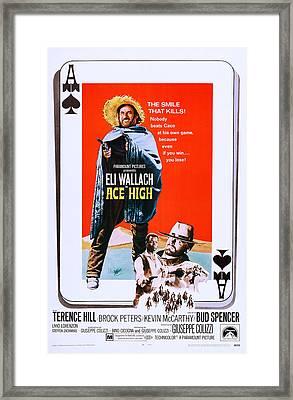 Ace High, Us Poster Art, From Left Eli Framed Print by Everett