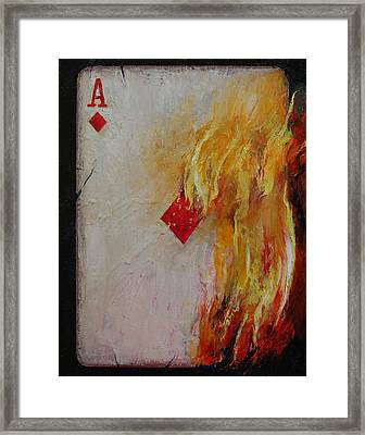 Ace Of Diamonds Framed Print by Michael Creese