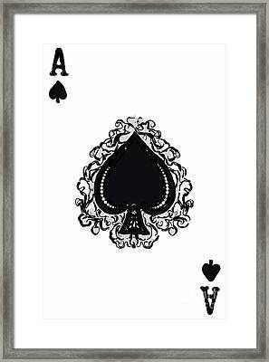 Ace Of Spade Framed Print by Wingsdomain Art and Photography