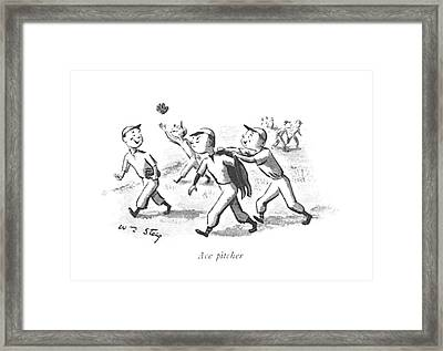 Ace Pitcher Framed Print