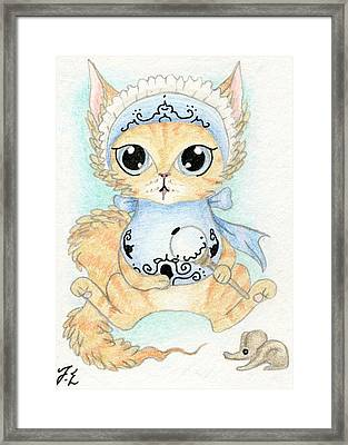 Aceo Baby Kitty Framed Print