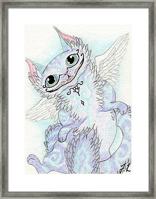 Aceo Cheshire Cat Framed Print