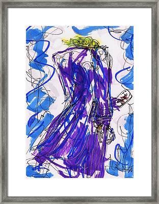 Aceo Joker V Framed Print by Rachel Scott