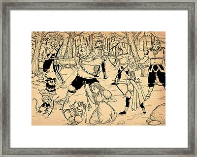 Framed Print featuring the painting Archery In Oxboar by Reynold Jay