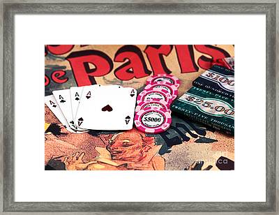 Aces In Paris Framed Print by John Rizzuto