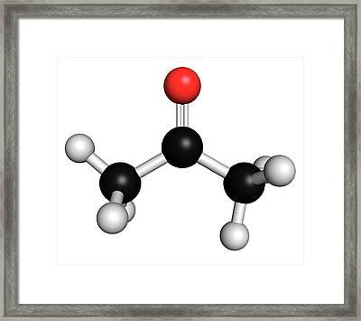 Acetone Solvent Molecule Framed Print