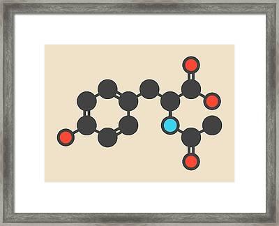 Acetylated Molecule Framed Print by Molekuul