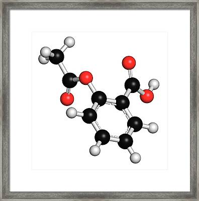 Acetylsalicylic Acid Pain Relief Drug Framed Print by Molekuul