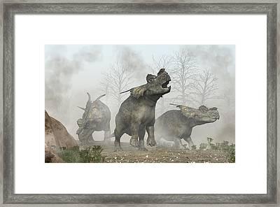Achelousauruses Framed Print by Daniel Eskridge