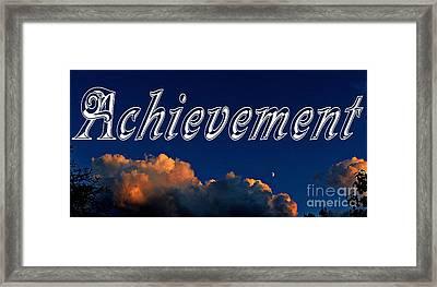 Achievement Framed Print by Barbara Griffin