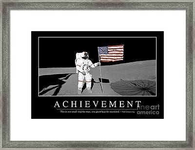 Achievement Inspirational Quote Framed Print