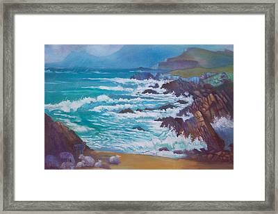 Framed Print featuring the painting Achill Ireland by Paul Weerasekera
