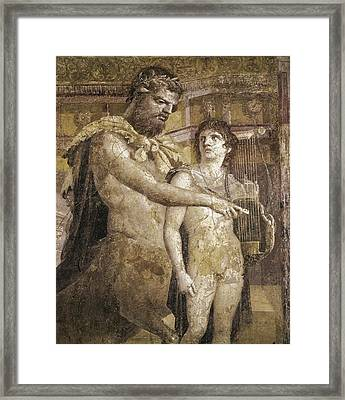 Achilles And Chiron. 45 - 79. Detail Framed Print by Everett