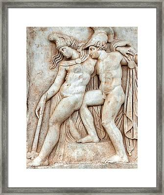 Achilles And Penthesilea Framed Print by Ayhan Altun