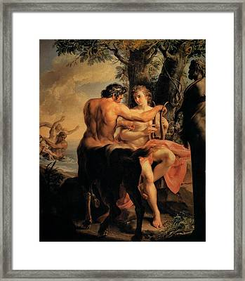 Achilles And The Centaur Chiron Framed Print by Pompeo Batoni