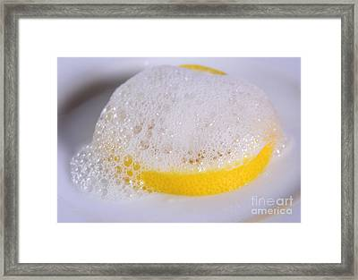 Acid-base Reaction Framed Print by Photo Researchers