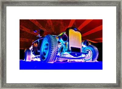 Acid Ford Hot Rod Framed Print by Phil 'motography' Clark