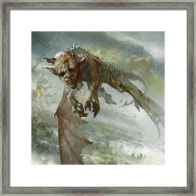Acidic Imp Framed Print by Ryan Barger