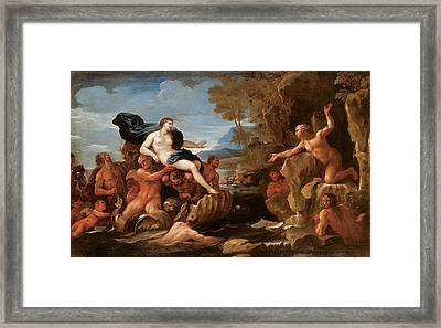 Acis And Galatea Framed Print by Luca Giordano