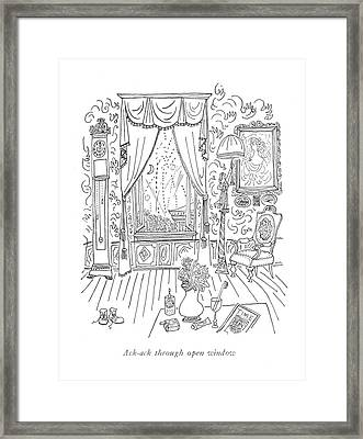 Ack-ack Through Open Window Framed Print