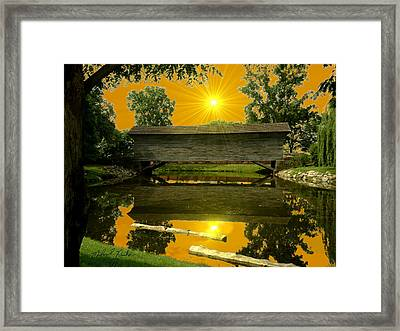 Ackley Covered Bridge Framed Print