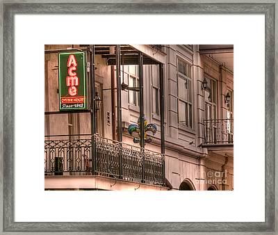Acme Oyster House Framed Print by David Bearden